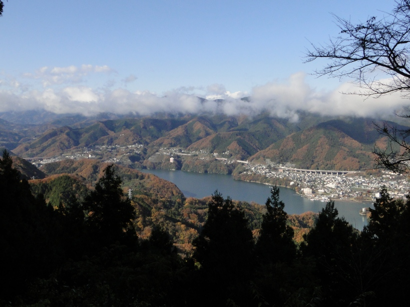 The Sagami Lake view point after the storm
