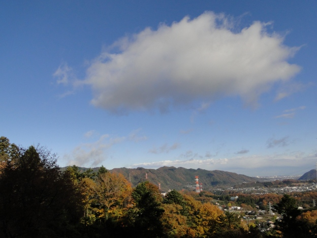 The Takao range seen from the temple