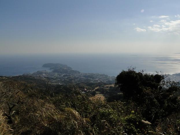 A cape jutting into Sagami bay