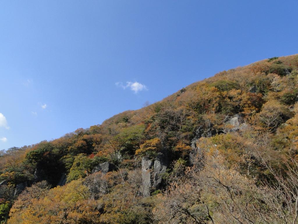 The rocky base of Mt Maku