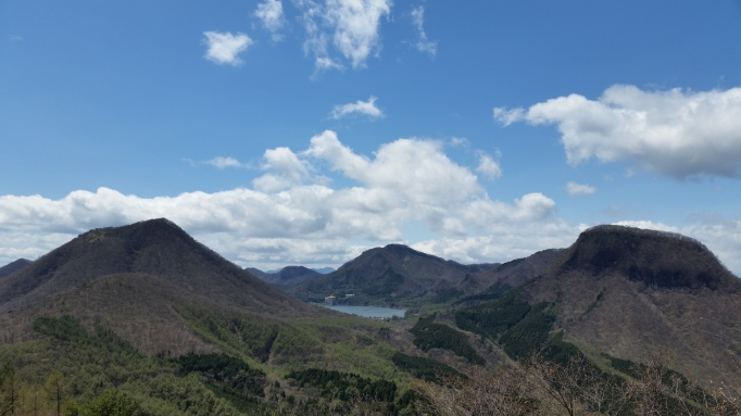 View of Haruna lake - one example of a destination that can be reached as a daytrip using the Tokyo wide pass.