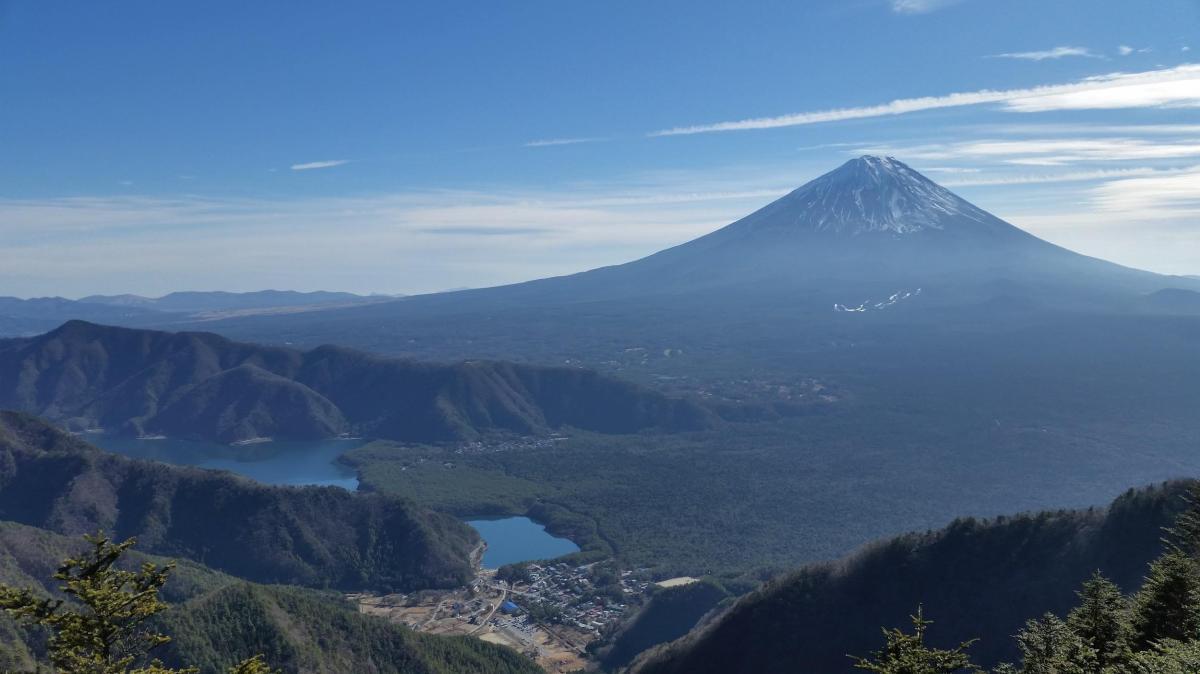 Mt Ou (1623m) & Mt Oni (1738m), Fuji-kawaguchiko City, YamanashiPrefecture