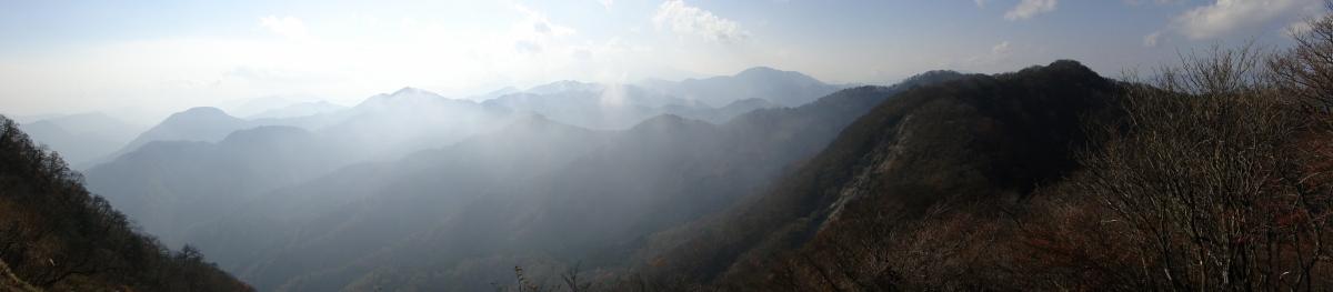 Mt Omuro (1587m) & Mt Kanyudo (1418m), Sagamihara City, KanagawaPrefecture