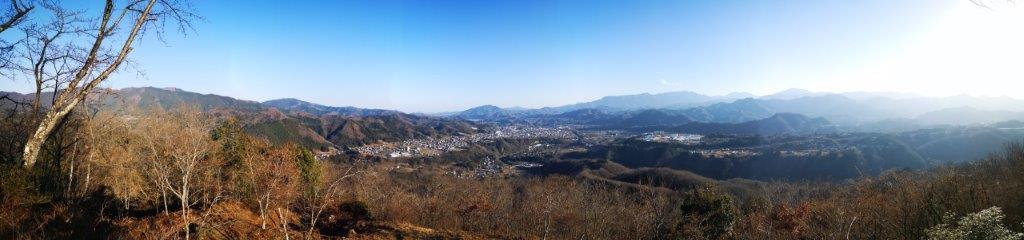 Mt Shomure (542m) and Mt Yogai (536m), Uenohara City, Yamanashi Prefecture, January2021